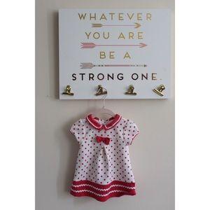 Baby Dress Red/White